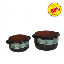 PENTOLE TERRACOTTA DECORATE SET DI 2