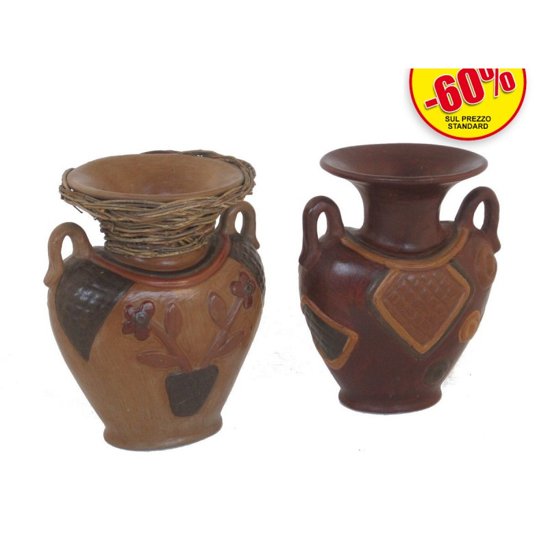 Vasi con due manici ca543 asian products snc for Vasi terracotta prezzi