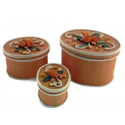 SCATOLA RAFFIA SET 3 CONCHIG.N.911